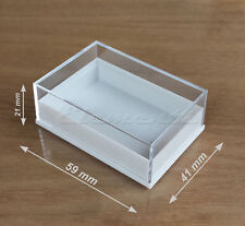 PLASTIC CLEAR TOP LID COLLECTABLES BOXES DISPLAY BEADS PENDANTS EARRINGS P008
