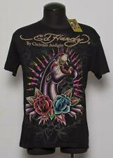 New Men's Ed Hardy By Christian Audigier Timeless Panther Black T-Shirt L-XL