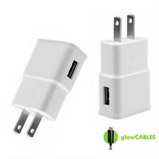 White Wall Adapter - Home Charging USB Port for Cell Phone USA 2A Fast Charger