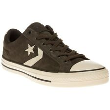 New Mens Converse Green Star Player Ev Ox Suede Trainers Plimsolls Lace Up