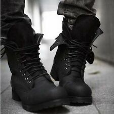 Men's short shoes Retro Combat lace up Winter England-style Boots Сапоги