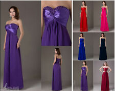 Hot Sale Chiffon Prom Bridesmaid Evening Party Dresses Formal Long Pageant Gowns