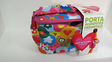 CHILDRENS INSULATED FUN LUNCH SHOULDER BAGS WITH ADDED FOOD CONTAINERS