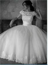 wonderful new white new wedding dress in stock size  6 8 10 12 14 16