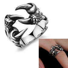 New Stainless Steel Ring Wolf Finger Band Men Jewelry Silver Punk Claw Love Rock
