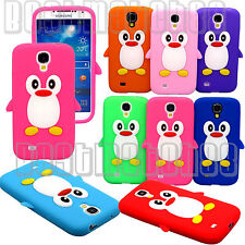for Samsung galaxy i9500 S4 S IV phone penguin hot pink red blue purple green