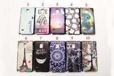 Fashion Designs Painting Hard Plastic Matte Case Cover for Samsung Galaxy Note 4
