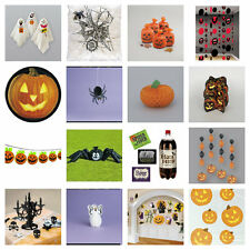 HALLOWEEN TRICK OR TREAT PARTY TABLE HANGING WALL DECORATIONS PLATES BALLOONS