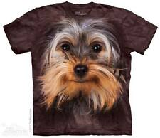 New YORKSHIRE TERRIER FACE DOG  T SHIRT
