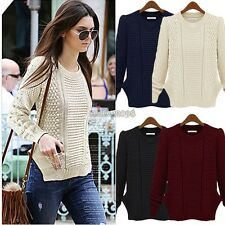 Women's Casual Long Sleeve Knitwear Jumper Cardigan Long Coat Sweater Jacket s35