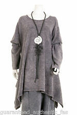 NEW ARRIVAL LA BASS FUNKY WASHED GREY TUNIC Sizes 1 ,2 ,3  UK 18 - 28