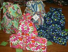 NWT Vera Bradley STRAIGHTEN UP & CURL Hot Flat Iron Travel Cover AND DITTY BAG