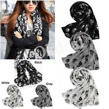 New Fashion Accessories Skull Head Soft Long Wrap Scarves Shawl Scarf for Womens
