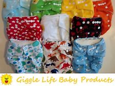 Giggle Life Baby Bamboo Cloth Diapers & 2x Inserts Lot of 1, 6, 10, 12, 24, 38