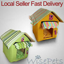 New Foldable Cosy Pet Dog Cat Bed House Kennel Soft Washable Removable Cushion
