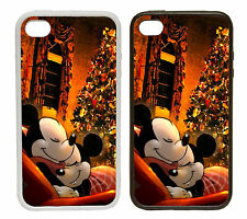 Mickey and Minnie - Disney Christmas Rubber and Plastic Phone Cover Cases
