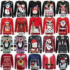 New Womens Ladies Novelty Rudolph Knitted Christmas Sweater Jumper By K K