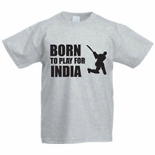 BORN TO PLAY FOR INDIA - Sport / Funny / Cricketer Children's Themed T-Shirt