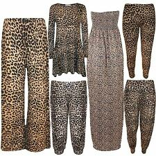 New Womens Plus Size Leopard Animal Prints Wild Look Harem Legging Palazzo Pants