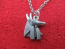 Anubis Necklace - Egyptian (your choice of chain -  Link/dog tag/velvet/leather)
