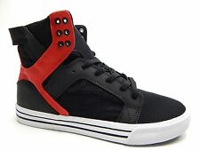 SUPRA SKYTOP BLACK GREY RED WHITE MEN SHOES SIZE 9 TO 13