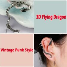GOTHIC PUNK EAST DRAGON CARTILAGE EAR CUFF WRAP CLIP STUD EARRING
