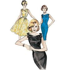 Retro Butterick 6582 50s 60s Vintage Wiggle Dress Full Sewing Pattern B6582 Prom