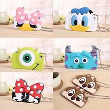 """3D Disney Neck Wrist Strap Rubber Silicone Soft Case For iPhone 5 /5S / 6 (4.7"""")"""