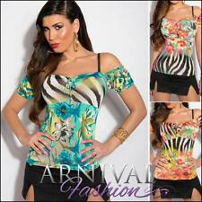 NEW SEXY PRINT TOPS FOR WOMEN wear XS S M WOMENS CASUAL SHIRTS ladies summer top