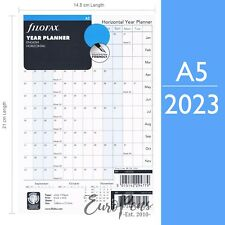Filofax A5 size Horizontal Year Diary Planner Insert Refill - choose year