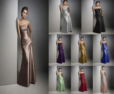 New Satin Formal Prom/Bridesmaid Cocktail Party Evening Dress Size 6-18 In Stock