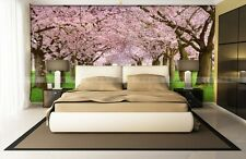 3D Cherry Avenue Pink Wall Murals Wallpaper Decal Decor Home Kids Nursery Mural