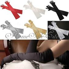 "From US 22"" Long Satin Gloves Above Elbow Wedding Bridal Prom Evening Party"