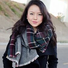 Bloggers Favourite Blanket Tartan Scarf Double Sided Plaid Check Wrap