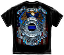 New POLICE DEPT T SHIRT HONOR OUR FALLEN HEROES