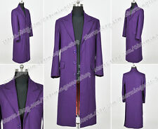 Batman Cosplay The Joker Costume Purple Trench Coat Great Quality Daily Wear New