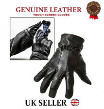 MENS LEATHER GLOVES THERMAL THINSULATE LINED DRIVING SOFT WARM WINTER XMAS GIFT