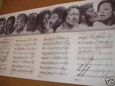 1985 MICHAEL JACKSON We are the World AUTOGRAPH Poster SIGNED Lithograph Music