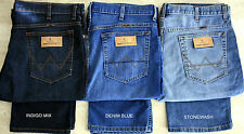 MEN'S W121 WRANGLER ICONIC TEXAS STRETCH REGULAR FIT JEANS 3 COLOURS .