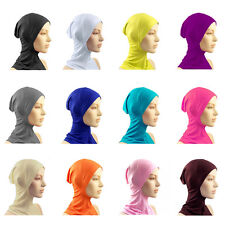 Hijab Islamic Head Wear Under Scarf Hat Cap Bone Bonnet Neck Chest Cover D47