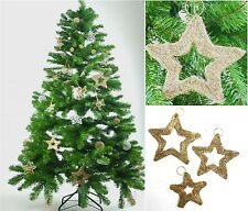 Festive Gold Golden Weave Hanging Stars Wedding Christmas Xmas Tree Decorations