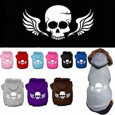 Dog Clothes Skull Wings Coat Hoodie Sweater Jacket for Dog Dogs Puppy Cotton