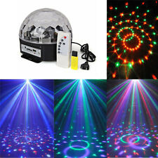 LED MP3 DJ Club Pub Disco Party DMX512 Crystal Magic Ball Stage 10-25W RGB Light