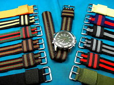 PLAIN + SIMPLE RAF MILITARY STYLE WATCH BANDS, LOW PRICE FOR BULK + NON-US SALES