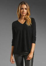NWT VINCE Wool Cashmere Double V Neck Black Sweater $245 Size XS S