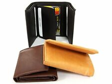 Leather Double Bill Trifold 8 Credit Card 2 ID Window Men's Wallet