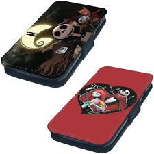 Nightmare Before Christmas Tim Printed Faux Leather Flip Phone Cover Case