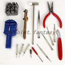 16 Pcs Watch Repair Tool Set Wrist Watch Strap Adjust Pin Tool Kit Back Remover