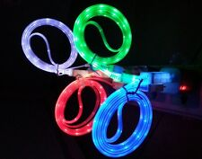 LED Neon Light USB Data Sync Cable Cord Charger for Smartphone Cell Phone iphone