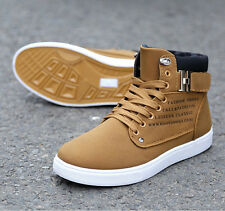 2014 New Men Shoes Fashion Leather Shoe Casual High Top Shoes Canvas Sneakers